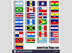 flags set of the american continent Stock Photo 27662962