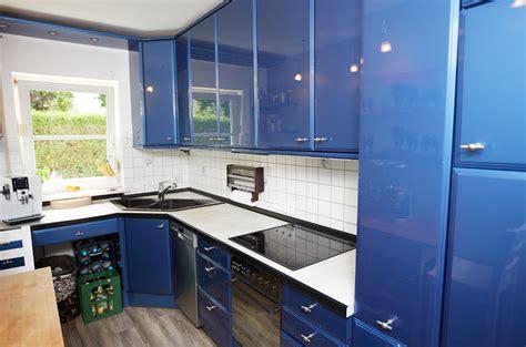Kuche Blau by K 252 Che In Blau Wei 223 Umbauprojekt K 252 Chenstudio Elha Service