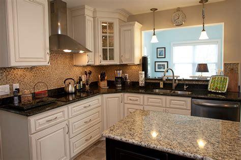 two level kitchen island designs two granite colors in the kitchen advanced granite