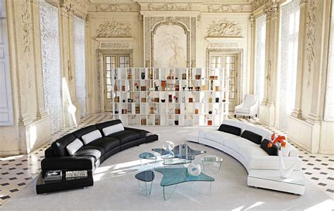 canape cuir italien contemporain living room inspiration 120 modern sofas by roche bobois
