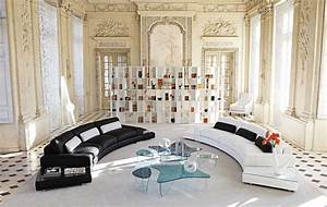 living room inspiration 120 modern sofas by roche bobois With canape cuir italien contemporain
