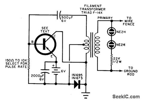 electric fence charger power supply circuit circuit
