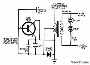 Electric Fence Charger - Power Supply Circuit