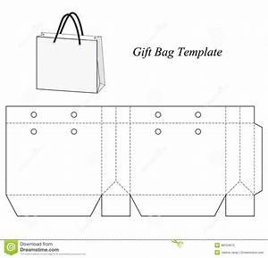 blank gift bag template stock vector image 48154672 With handbag gift box template