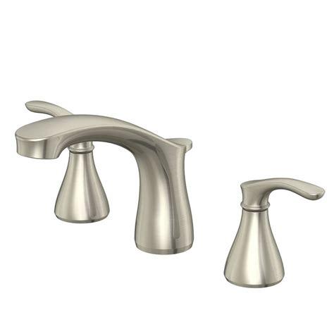 Shoo Sink Faucet by Shop Aquasource Garner Brushed Nickel 2 Handle Widespread