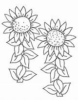 Sunflower Coloring Pages Printable Flowers Children sketch template