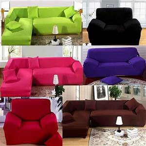 Soft stretch elastic fabric sofa cover pet dog sectional for Sectional sofa covers for pets