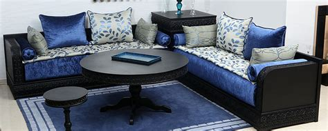 tissu canape metre salon moderne déco salon marocain