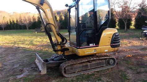 caterpillar  mini excavator youtube
