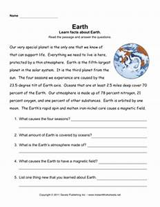 Earth Comprehension — Instant Worksheets