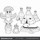 Teepee Tent Drawing Coloring Pages Getdrawings sketch template
