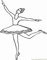 Coloring Ballet Pages Ballerina Dancing Printable Positions Dance Draw Print Coloringpages101 Sheets Comments sketch template