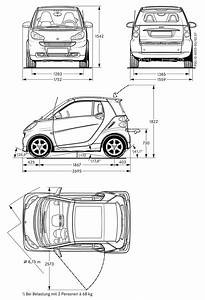Smart Fortwo Blueprint  Con Immagini