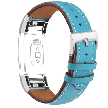 igk for fitbit charge 2 bands genuine replacement wrist bands metal connectors for