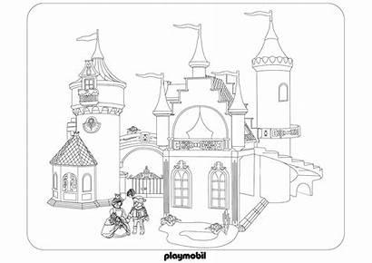Playmobil Chateau Coloriage Princesse Dessin Coloring Roi