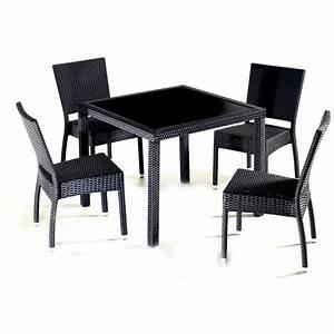 Table De Jardin Resine : salon de jardin en r sine table carr 4 personnes ~ Teatrodelosmanantiales.com Idées de Décoration