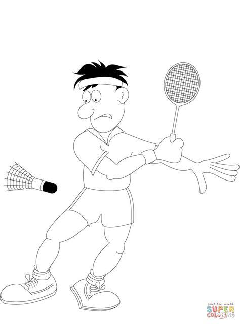 Kleurplaat Badminton by Badminton Coloring Coloring