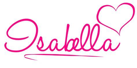 isabella name logo by bloom914 on deviantart