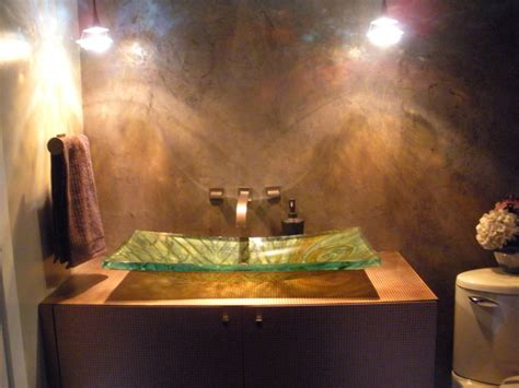 ways  design  bathroom  venetian plaster
