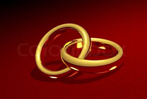 golden wedding rings linked together colourbox