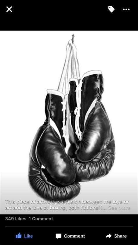 This is a photoshop drawing of boxing gloves | tattoo | Boxing gloves tattoo, Boxing tattoos
