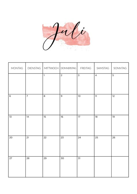 frei kalender juli  zum ausdrucken nosoviacom
