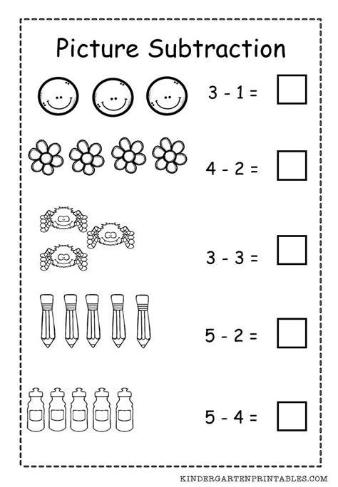 basic picture subtraction worksheet free printable basic