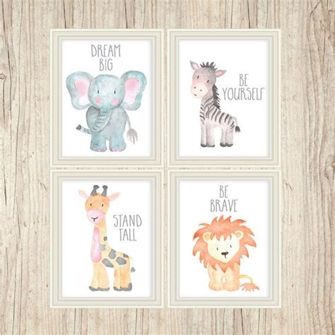 cheetah print baby room decor safari nursery animal paintings baby animal prints