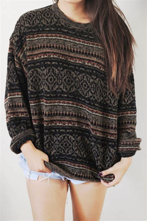 Mystery Sweater Oversized Hipster Comy Cute Tumblr Grunge Back to School
