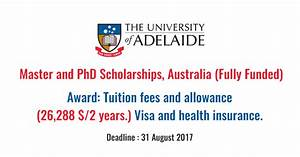 Adelaide University Master and PhD Scholarships, South ...