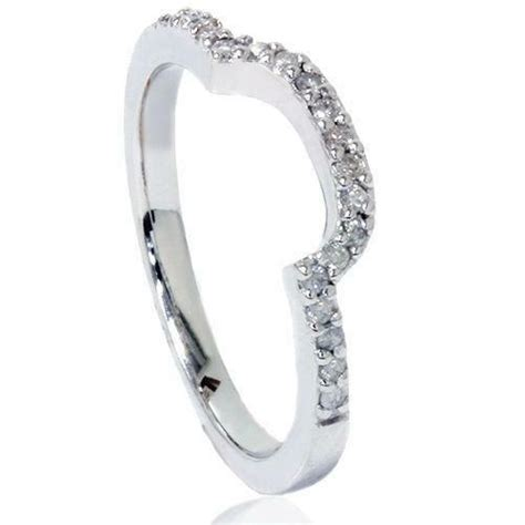 womens curved wedding bands ebay