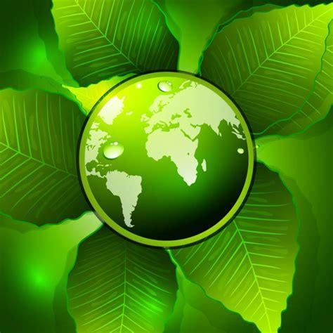 Grüne Ökologie Hintergrund  Download Der Kostenlosen Vektor