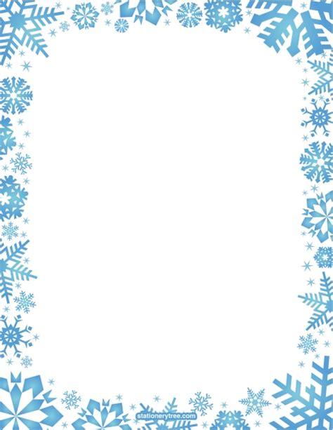 christmas snowflake clipart border   cliparts