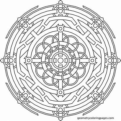 Coloring Pages Geometry Mandala Sacred Adult Mandalas