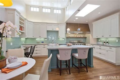 teal kitchen ideas white cabinets teal island turquoise backsplash for my