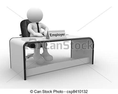 office bureau 8 clip de employeur 3d gens humain caractère