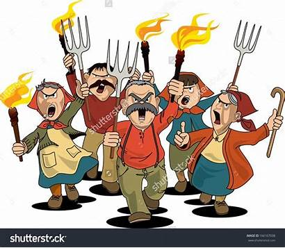 Clipart Angry Towns Mob Villagers Villager Townspeople
