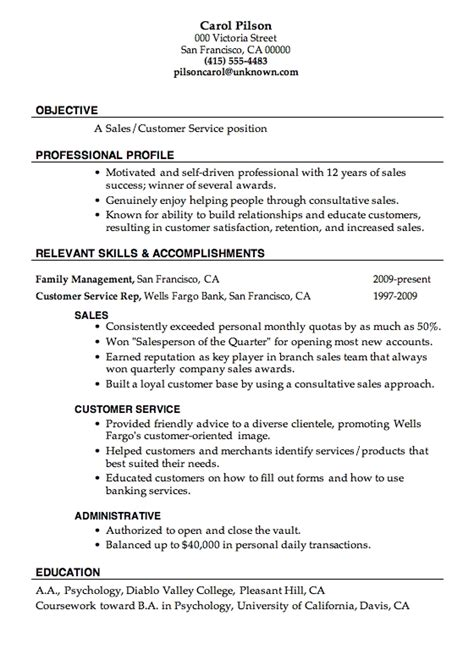 Objective Resume Sles by Objective For Sales Resume Best Resume Exle