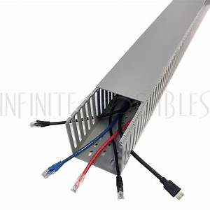 6ft Plastic Wiring Duct With Cover 4x4 - Grey