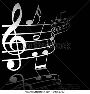 12 Vector Music Notes On Black Background Images - Cool ...