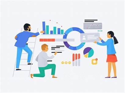 Business Analysis Market Data Hand Illustration Management