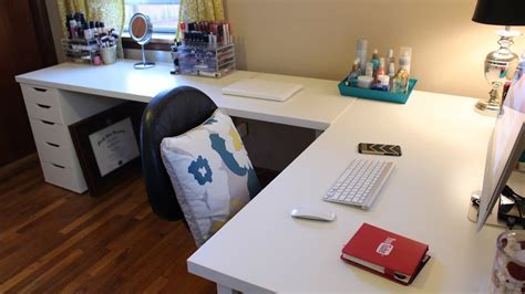 20 amazing diy ikea desk hacks for your home office these pictures of this page are about:ikea custom desk. IKEA Desks & Office Makeover - YouTube