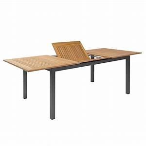 Tisch Metall Holz : gartentisch holz metall ausziehbar ~ Whattoseeinmadrid.com Haus und Dekorationen