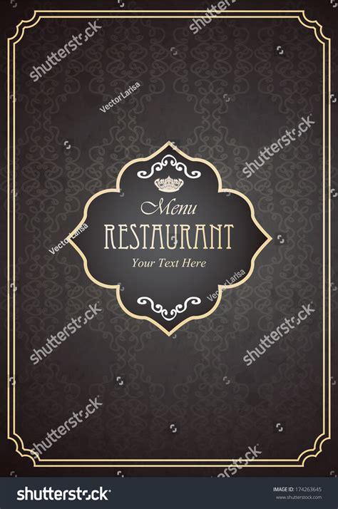 restaurant menu design  page vector stock vector