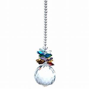 Crystal ball feng shui rainbow hanging lighting prisms