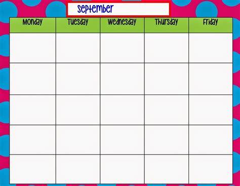 printable weekly calendar monday  friday ten