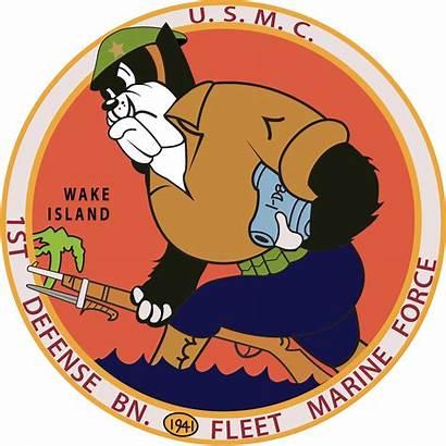 Defense Battalion 1st Island Wake Gambar Stiker