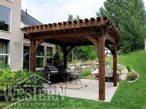 pergola western timber frame