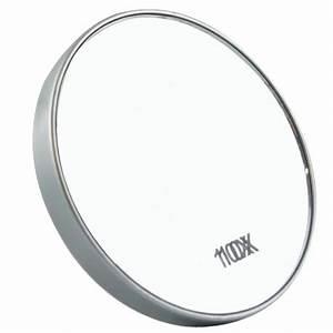Miroir Grossissant X10 : miroir pour maquillage grossissant 10 fois avec ventouses ~ Carolinahurricanesstore.com Idées de Décoration