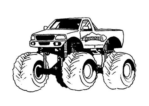 monster truck  transporte paginas  colorear